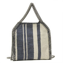 Stella McCartney FALABELLA Stripes Cambus 2WAY Party Style Totes