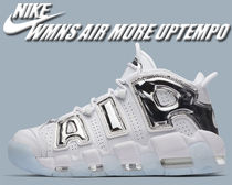 Nike AIR MORE UPTEMPO Unisex Street Style Low-Top Sneakers