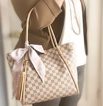 Louis Vuitton Tassel A4 Leather Elegant Style Totes