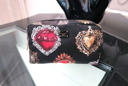 Heart Nylon Pouches & Cosmetic Bags