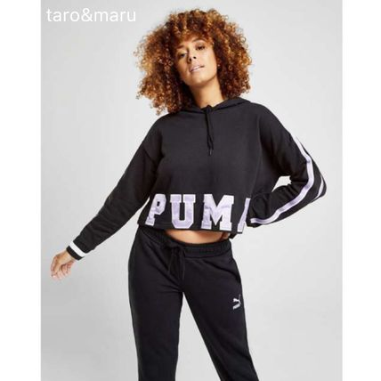 d8c8a822e6dc ... PUMA Cropped Short Stripes Casual Style Street Style Long Sleeves Plain  10 ...