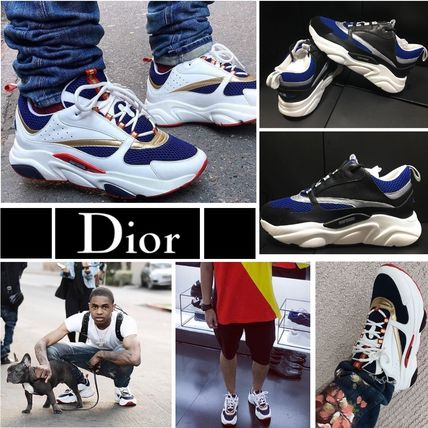 Blended Fabrics Street Style Leather Sneakers
