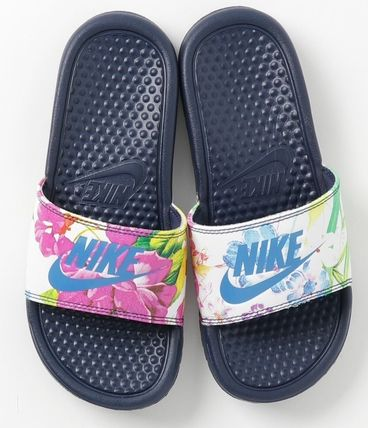 9a761ac6b457 Nike BENASSI 2018 SS Flower Patterns Shower Shoes Shower Sandals by ...