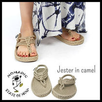 NOMADIC STATE OF MIND Open Toe Casual Style Unisex Slippers Heeled Sandals
