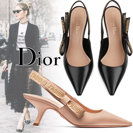 45d44154a7b Christian Dior JADIOR 2018-19AW Blended Fabrics Studded Street Style  Leather Block Heels by Dearme... - BUYMA