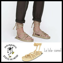 NOMADIC STATE OF MIND Open Toe Lace-up Casual Style Sandals