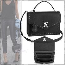 Louis Vuitton MY LOCKME  Calfskin Blended Fabrics Studded 3WAY Plain Elegant Style