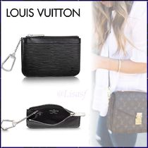 Louis Vuitton EPI Blended Fabrics Chain Plain Leather Coin Purses