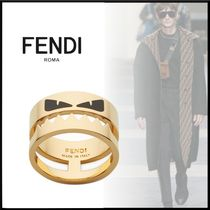 FENDI Plain Metal Rings