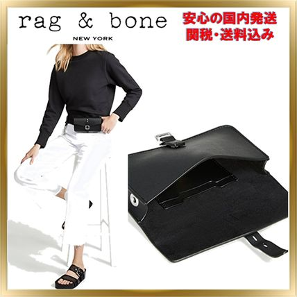 Casual Style Unisex Plain Leather Shoulder Bags