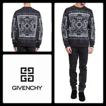 GIVENCHY Pullovers Long Sleeves Cotton Sweatshirts