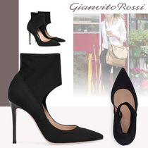 Gianvito Rossi Faux Fur Plain Pin Heels High Heel Boots
