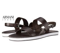ARMANI JEANS Plain Leather Sandals