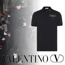 VALENTINO Cotton Short Sleeves With Jewels Polos