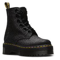 Dr Martens Platform Lace-up Casual Style Unisex Street Style