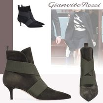 Gianvito Rossi Casual Style Suede Pin Heels Ankle & Booties Boots