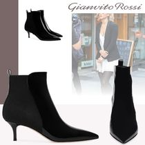 Gianvito Rossi Casual Style Leather Pin Heels Ankle & Booties Boots