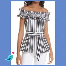 kate spade new york Stripes Cotton Bandeau & Off the Shoulder