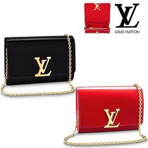 Louis Vuitton Calfskin Vanity Bags Chain Plain Elegant Style Shoulder Bags