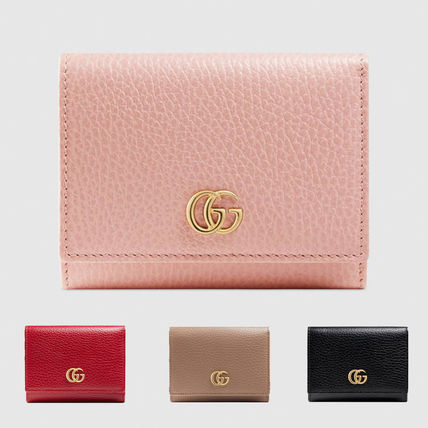 big sale 83514 363e0 GUCCI GG Marmont Leather Folding Wallets