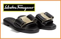 Salvatore Ferragamo Open Toe Leather Sandals