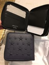 Jimmy Choo Star Studded Street Style Leather Folding Wallet