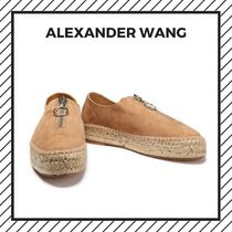 Alexander Wang Platform Plain Toe Casual Style Chain Plain Leather