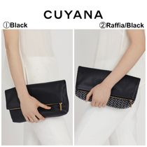 CUYANA Casual Style Plain Leather Clutches