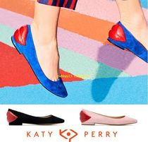 Katy Perry Suede Plain Ballet Shoes
