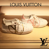Louis Vuitton Plain Leather Low-Top Sneakers