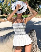 Street Style Bi-color Tribal Co-ord Beach Cover-Ups
