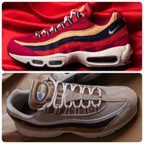 Nike AIR MAX 95 Stripes Unisex Faux Fur Street Style Sneakers