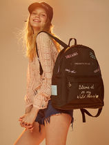 Entre Reves Casual Style Canvas Street Style A4 Plain Backpacks