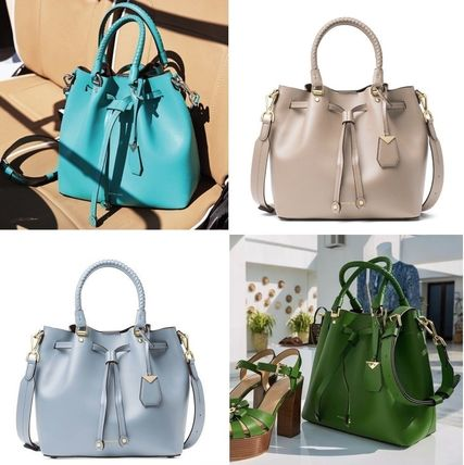 Michael Kors Handbags Street Style 2way Plain Leather Purses Elegant