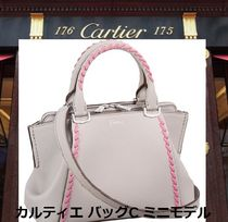 Cartier 2WAY Leather Elegant Style Handbags