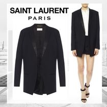 Saint Laurent Wool Plain Long Jackets
