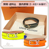 Louis Vuitton Plain Leather Bracelets