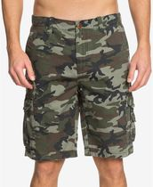 Quik Silver Camouflage Street Style Cotton Cargo Shorts
