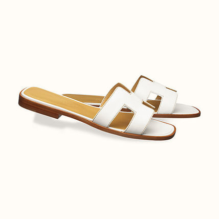 HERMES More Sandals Leather Metallic Sandals Sandal 5