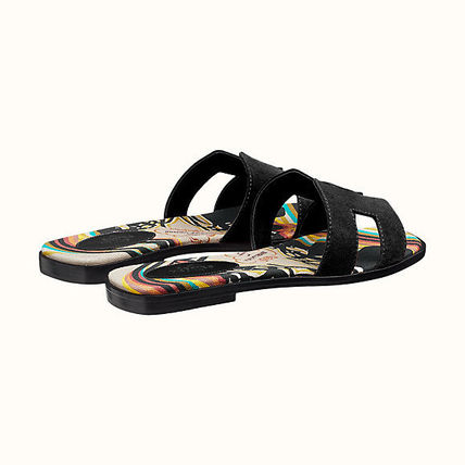 HERMES More Sandals Leather Metallic Sandals Sandal 13