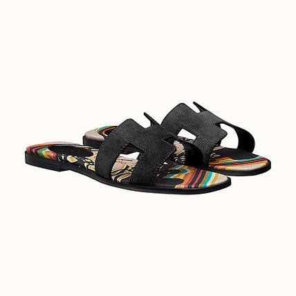 HERMES More Sandals Leather Metallic Sandals Sandal 14