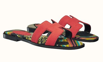 HERMES More Sandals Leather Metallic Sandals Sandal 18