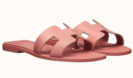 HERMES More Sandals Leather Metallic Sandals Sandal 19