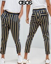 ASOS Printed Pants Stripes Street Style Cotton Patterned Pants