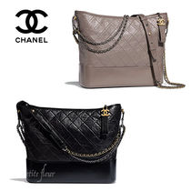 CHANEL Chain Leather Office Style Shoulder Bags