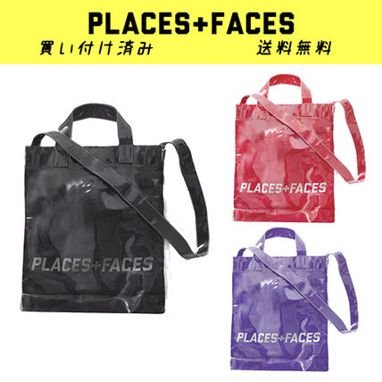 Unisex 2WAY Crystal Clear Bags PVC Clothing Totes