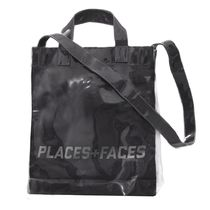 PLACES+FACES Unisex 2WAY Crystal Clear Bags PVC Clothing Totes