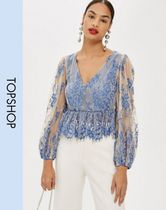 TOPSHOP Long Sleeves Lace Elegant Style Tops