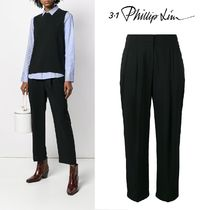 3.1 Phillip Lim Plain Cotton Long Elegant Style Cropped & Capris Pants