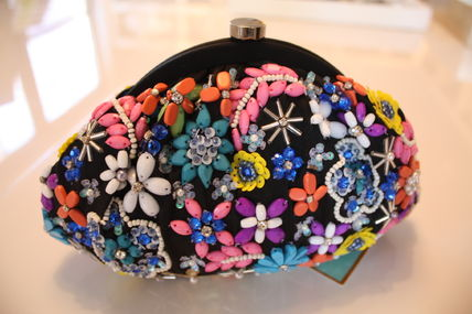 Flower Patterns Party Style With Jewels Clutches